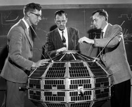 1961: Alouette engineering model with